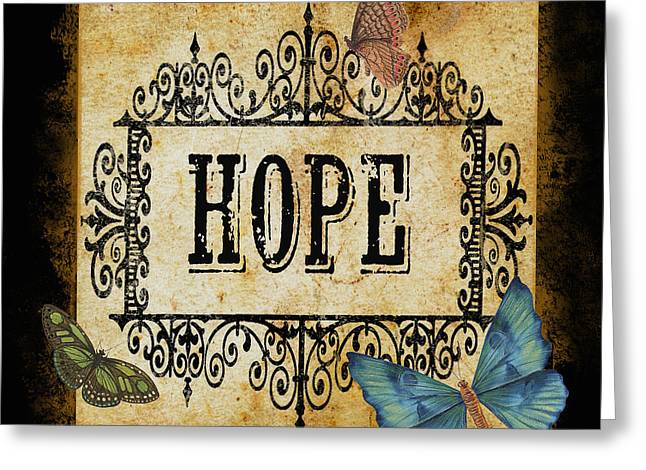 Butterfly Greeting Cards - Hope-JP2663 Greeting Card by Jean Plout