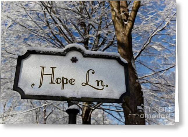 Reception Greeting Cards - Hope Lane Greeting Card by Cheryl Young