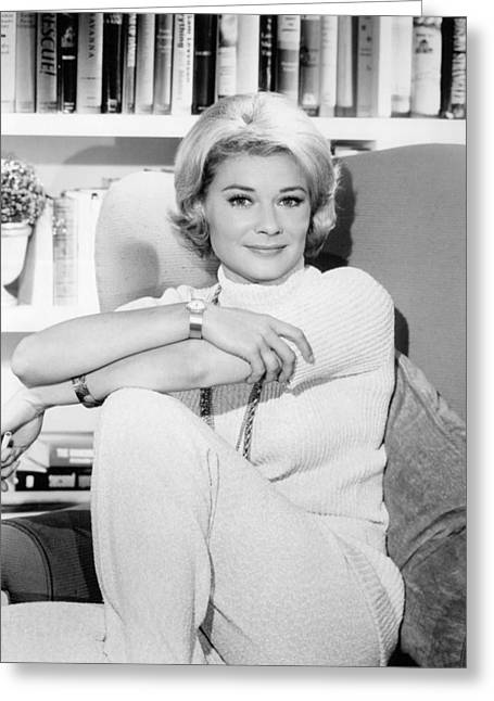 Hope Lange In The New Dick Van Dyke Show  Greeting Card by Silver Screen