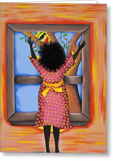 Gullah Art Greeting Cards - Hope Greeting Card by Patricia Sabree