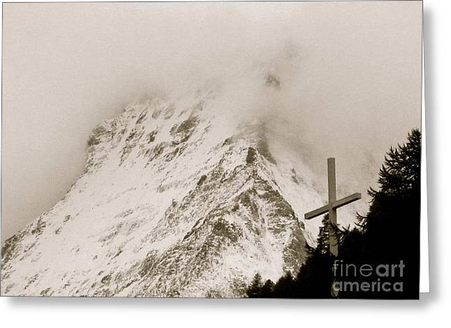 Swiss Cross Greeting Cards - Hope Revealed Greeting Card by Lynn R Morris