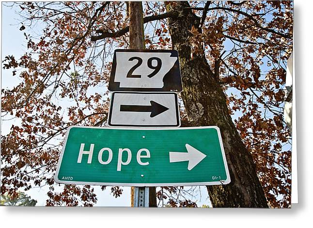 South Arkansas Greeting Cards - Hope Greeting Card by Scott Pellegrin