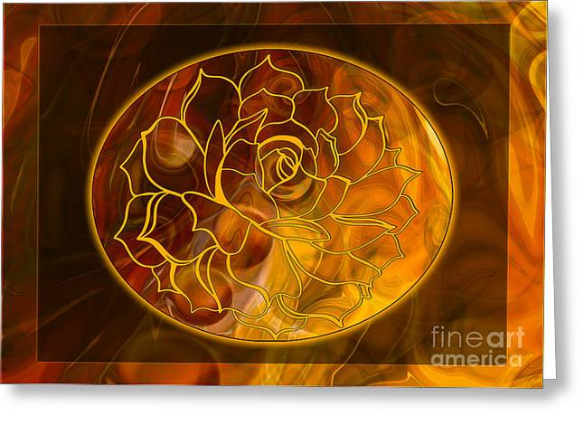 Owfotografik Mixed Media Greeting Cards - Hope Springs Eternal Abstract Healing Art Greeting Card by Omaste Witkowski