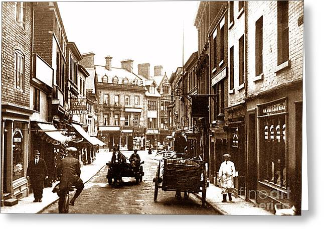 Wrexham Greeting Cards - Hope Street Wrexham Wales Greeting Card by The Keasbury-Gordon Photograph Archive