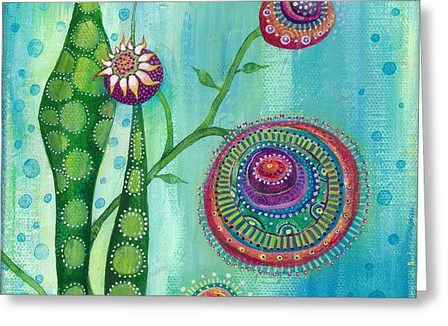 Popular Flower Art Greeting Cards - Hope Greeting Card by Tanielle Childers