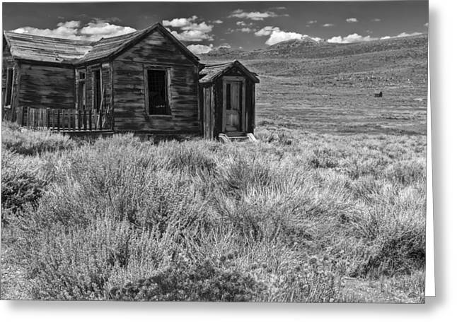 White Frame House Photographs Greeting Cards - Hopeless but Standing Greeting Card by Jon Glaser