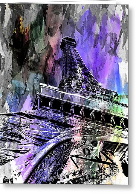 Eiffel Tower Greeting Cards - Hopeless Romantic Greeting Card by Az Jackson