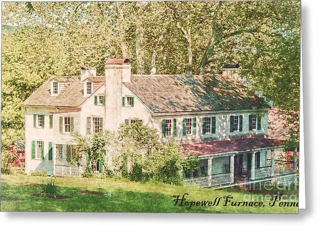 Farm House Greeting Cards - Hopewell Furnace in Pennsylvania Greeting Card by Olivier Le Queinec