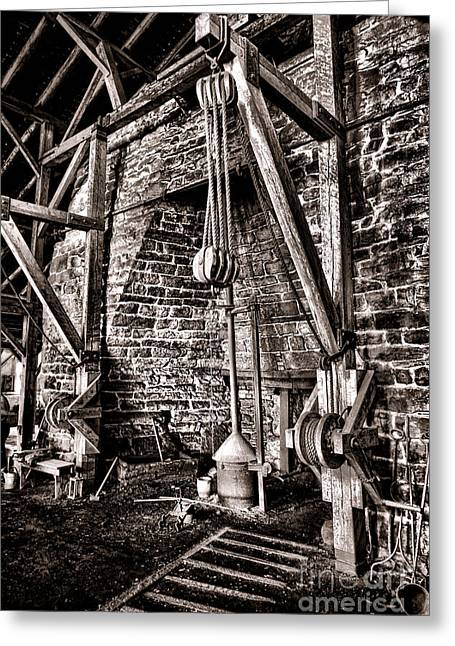 Foundry Greeting Cards - Hopewell Furnace Greeting Card by Olivier Le Queinec