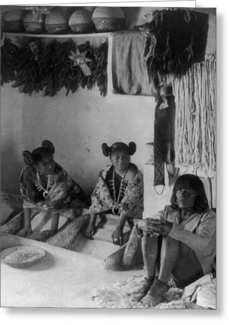 Hopi Grinding Corn, C1903 Greeting Card by Granger