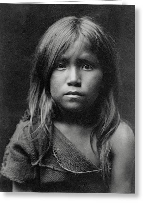 Hopi Greeting Cards - Hopi Indian Girl 1905 Greeting Card by Daniel Hagerman