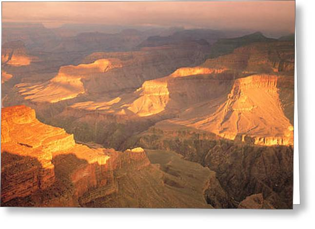 Geologic Greeting Cards - Hopi Point Canyon Grand Canyon National Greeting Card by Panoramic Images