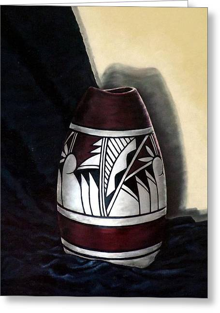 Becker Greeting Cards - Hopi Pottery Greeting Card by Linda Becker