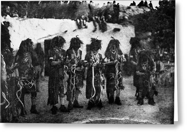 Hopi Snake Priests, 1906 Greeting Card by Granger