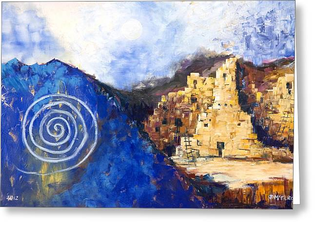 Native American Dwellings Greeting Cards - Hopi Spirit Greeting Card by Jerry McElroy