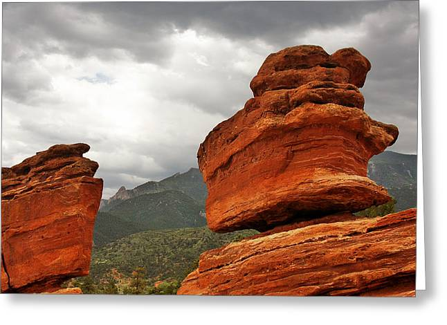 Hoping For Rain - Garden Of The Gods Colorado Greeting Card by Christine Till