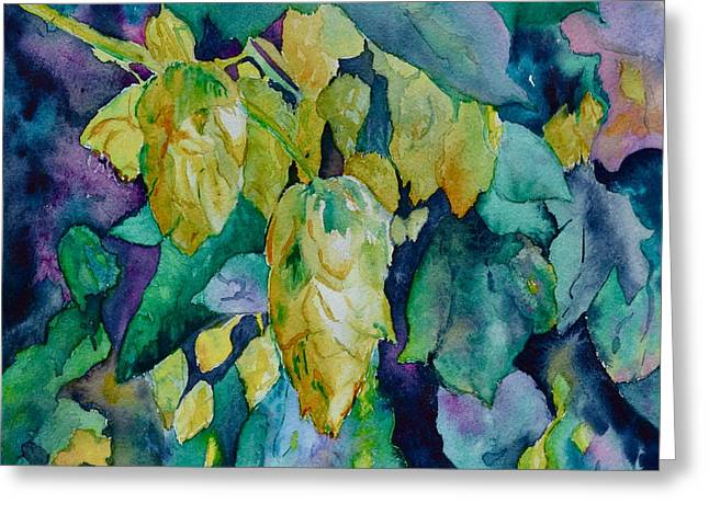 Bht Greeting Cards - Hops Greeting Card by Beverley Harper Tinsley
