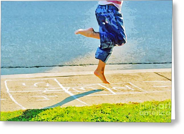 Hopscotch Greeting Card by Lifestyle Photos By Tara