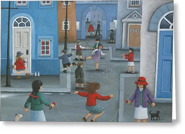 Hopscotch Greeting Cards - Hopscotch Greeting Card by Peter Adderley