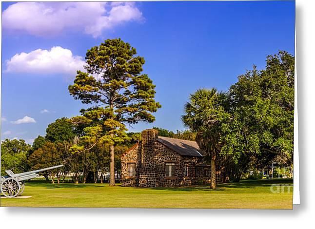 Old Cabins Photographs Greeting Cards - Horace Egglestons House - Gonzales Texas Greeting Card by Silvio Ligutti