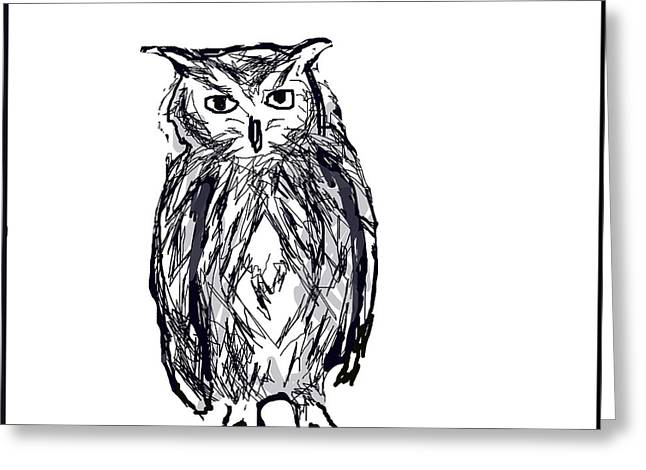 G. Pawer Greeting Cards - Horace the Owl Greeting Card by Paul Sutcliffe