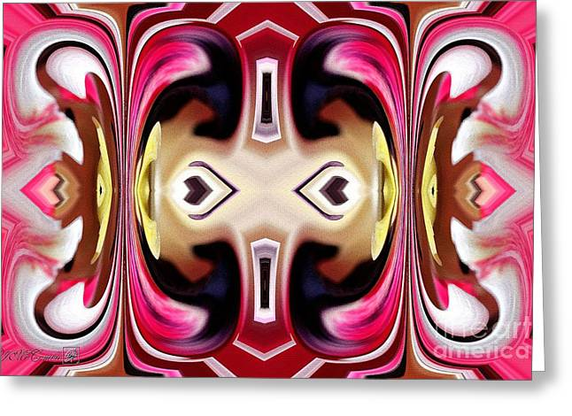 Horizon Abstract Greeting Card by J McCombie