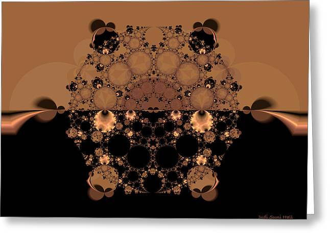 Lacy Fractal Greeting Cards - Horizon Fractal Greeting Card by Judi Suni Hall