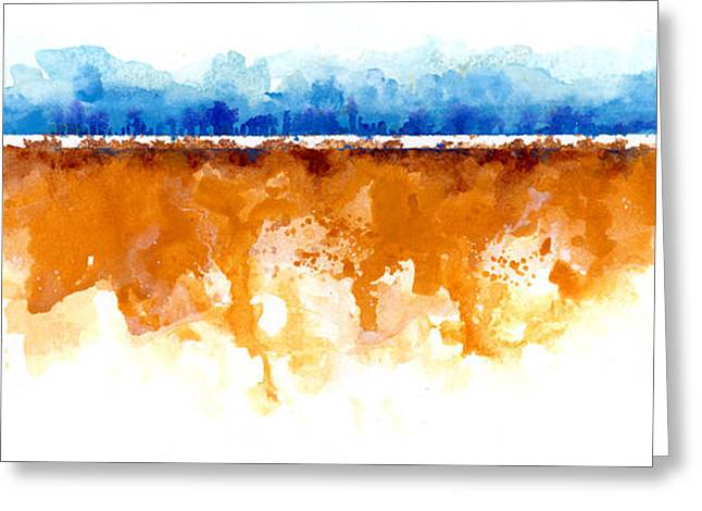Abstract Expressionist Greeting Cards - Horizon Greeting Card by Ken Meyer jr
