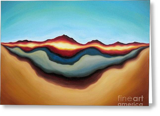 Abstract Expressionist Greeting Cards - Horizon of Ages Greeting Card by Tiffany Davis-Rustam