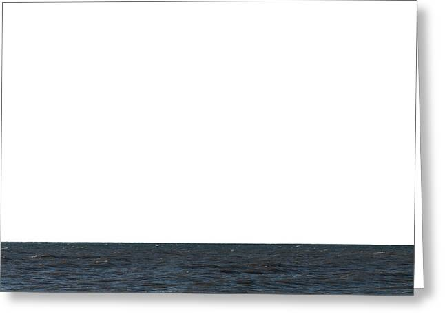 Ocean Of Emptiness Greeting Cards - Horizon White Greeting Card by Jeff Kauffman