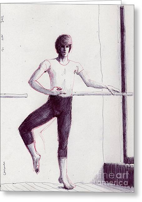 Best Sellers -  - Ballet Dancers Drawings Greeting Cards - Horizontal And Vertical Greeting Card by Line Arion