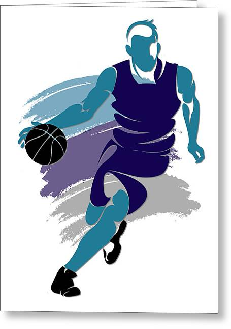Charlotte Greeting Cards - Hornets Basketball Player2 Greeting Card by Joe Hamilton