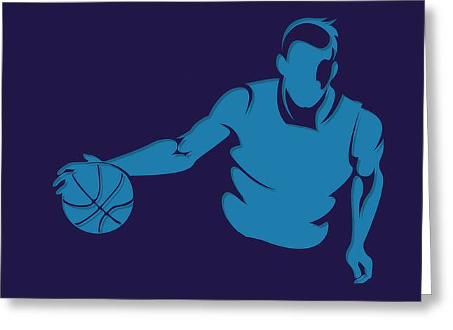 Charlotte Greeting Cards - Hornets Shadow Player1 Greeting Card by Joe Hamilton