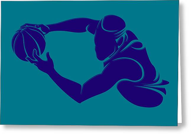 Charlotte Greeting Cards - Hornets Shadow Player3 Greeting Card by Joe Hamilton