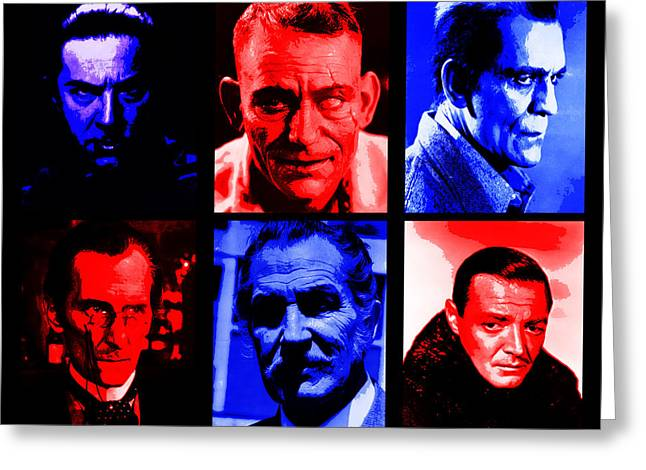 Lorre Greeting Cards - Horror Classics Greeting Card by Michael Lee