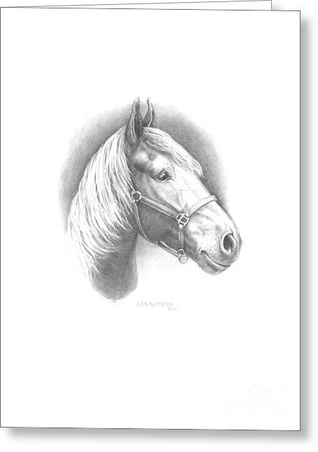 Horse-1 Greeting Card by Lee Updike