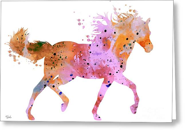Horse Posters Greeting Cards - Horse 2 Greeting Card by Luke and Slavi