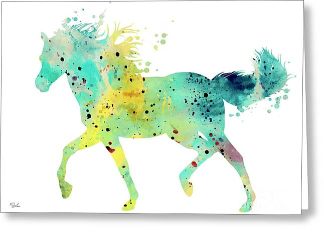 Horse Posters Greeting Cards - Horse 3 Greeting Card by Luke and Slavi
