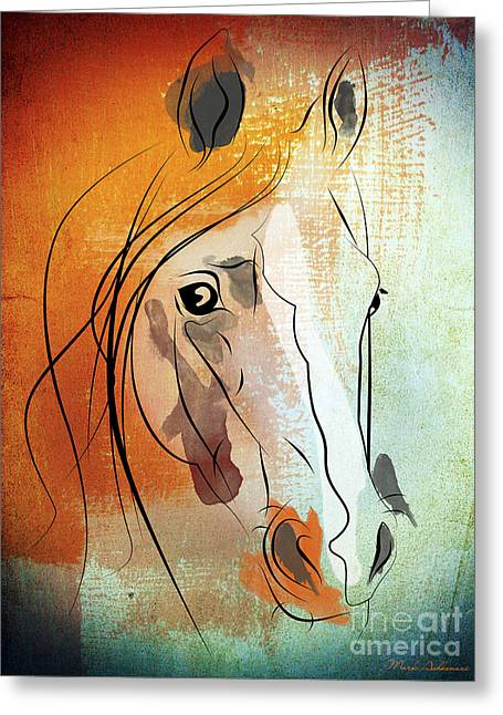 Wild Horses Greeting Cards - Horse 3 Greeting Card by Mark Ashkenazi