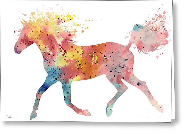 Horse Posters Greeting Cards - Horse 4 Greeting Card by Luke and Slavi