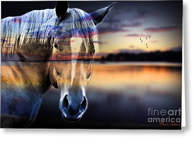 Race Horse Greeting Cards - Horse 6 Greeting Card by Mark Ashkenazi
