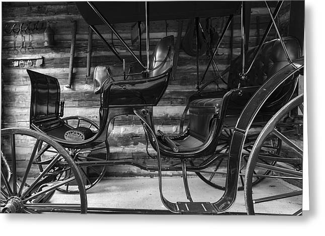 Horse And Buggy Greeting Cards - Horse and Buggy Days Greeting Card by Gary Warnimont