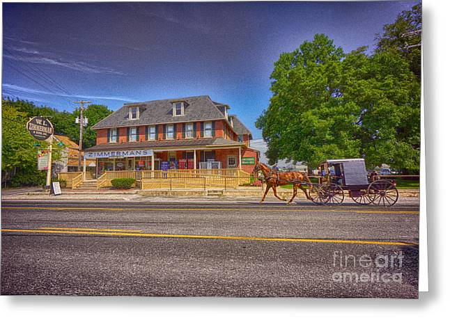 Horse Buggy Greeting Cards - Horse and Buggy Lancaster PA Greeting Card by Jack Paolini