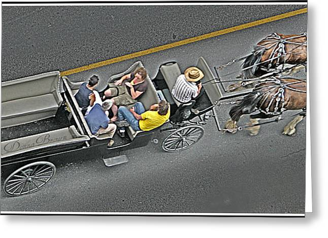 Kingston Digital Greeting Cards - Horse and Buggy Ride Greeting Card by Donna Brown