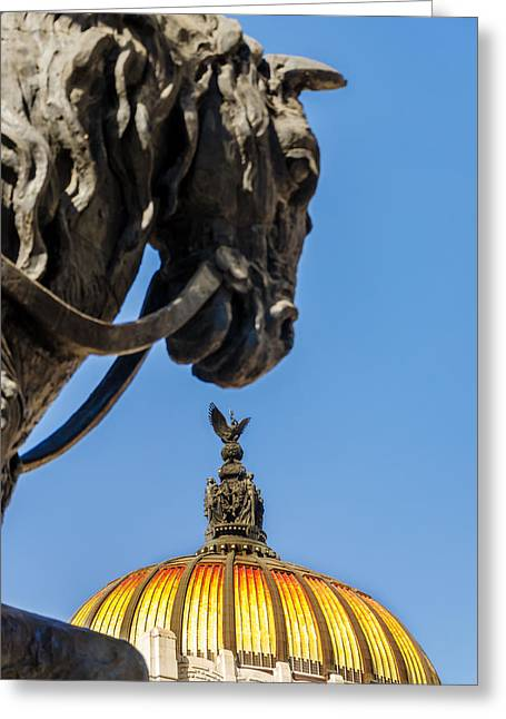 Mexico City Greeting Cards - Horse and Dome Greeting Card by Jess Kraft