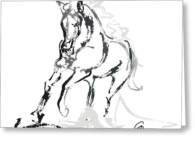Horse- Andalusian angel Greeting Card by Go Van Kampen