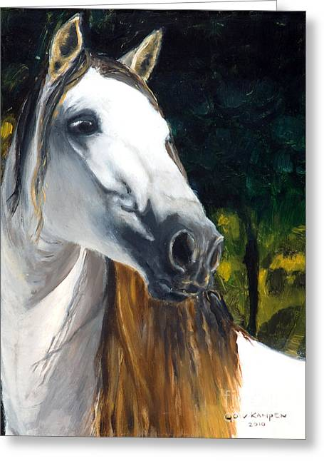 Angel Greeting Cards - horse - Angel Greeting Card by Go Van Kampen