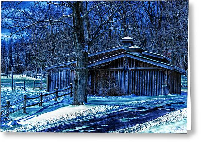 Skip Tribby Greeting Cards - Horse Barn Greeting Card by Skip Tribby