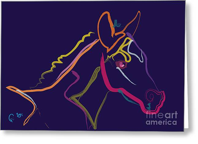 Foals Greeting Cards - Horse - colour filly Greeting Card by Go Van Kampen
