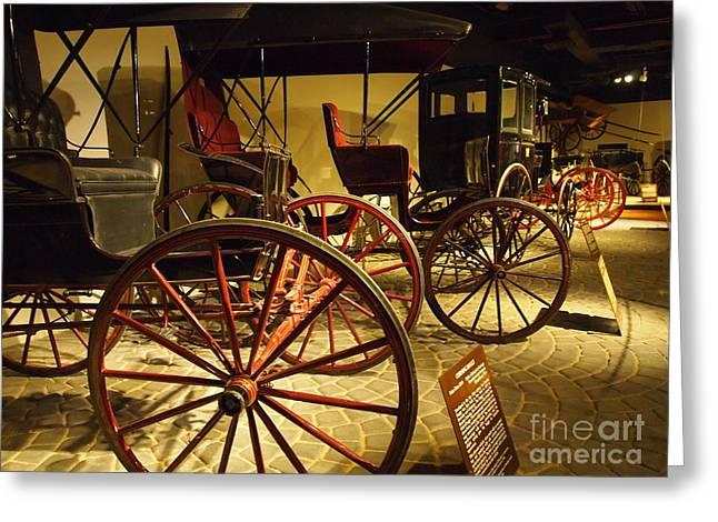Horse And Buggy Greeting Cards - Horse Drawn Buggy Greeting Card by Deborah Fay